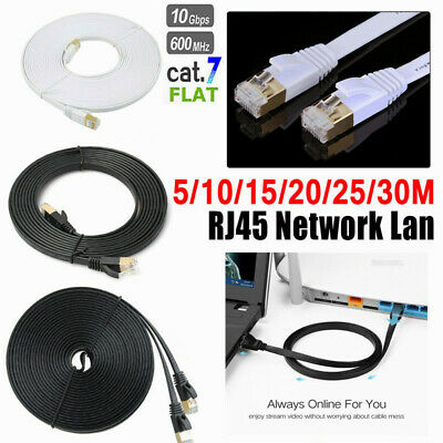 5/10/15/20/25/30M Cat7 10Gbps LAN Network Ethernet Rj45 Ultra-thin Shielde Cable
