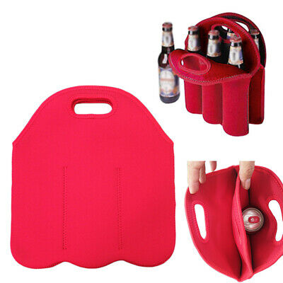 1X Bottle Drink/Wine/Beer Insulated Neoprene Bag Tote Carrier Cooler Case29.3cm