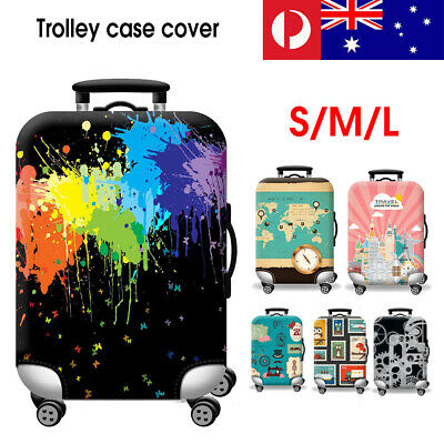"Elastic Travel Luggage Suitcase Bag Cover 18-32"" Dustproof Protector Protective"