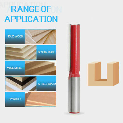 1/2inch Shank Long Blade Straight Router Bit Woodworking Tenon Cutter Tool New