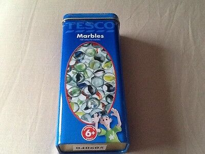 Unopened Tin of 100 Coloured Marbles