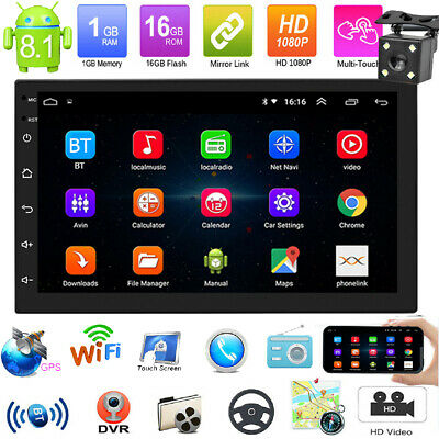 "7"" Android 8.1 Autoradio mit GPS Navigation Navi Bluetooth WIFI Doppel 2 DIN MP5"