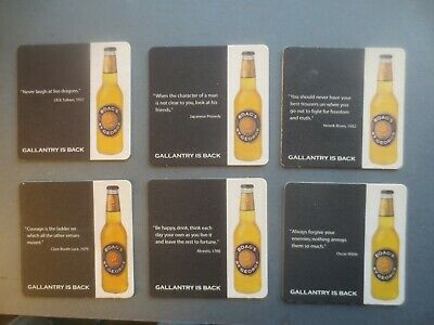 complete set of 6 BOAG,s St George Beer 2006 Issue COASTERS collectable