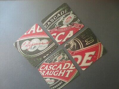 complete set of 4 CASCADE DRAUGHT 2004 Issue COASTERS collectable