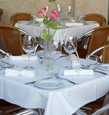Ex-Hotel Linen Table Cloths - Mixed Sizes & Colours