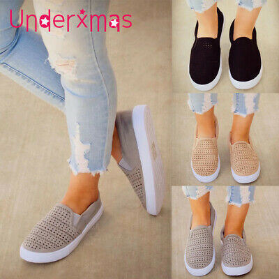 Women Breathable Slip On Trainers Pumps Ladies Summer Casual Comfy Loafers Shoes