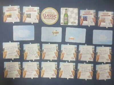 """complete & all known 22 in total BOAG,s BREWERY """" CLASSIC BLONDE """"  COASTERS"""