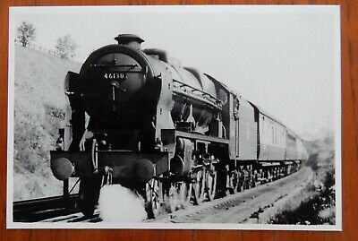 LMS Royal Scot class loco No.46130.The West Yorkshire Regiment - glossy photo.