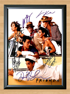 Friends Jennifer Aniston Cast Signed Autographed A4 Photo Poster TV Memorabilia