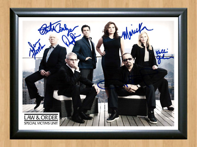 Law and Order Special Victims Unit Cast Signed Autographed A4 Photo Memorabilia