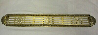 Vintage Brass Vent Cover Ornate Marked ST Heat Register Vent Grate Grill Antique