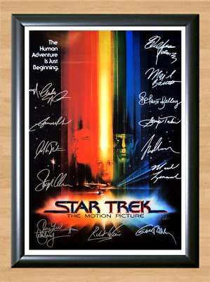 Star Trek Cast Signed Autographed A4 Photo Poster TV Memorabilia vintage dvd cd