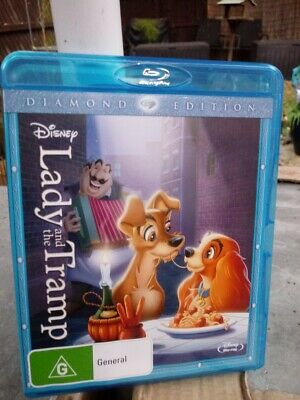 Lady and the Tramp  -  Diamond Edition BLU-RAY - Region Free NEW AND SEALED