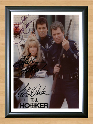 T. J. Hooker Heather Locklear Cast Signed Autographed A4 Photo Memorabilia dvd