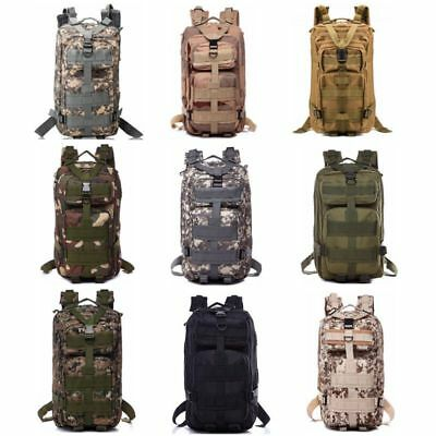 30L Hiking Camping Bag Army Military Tactical Rucksack Camo Trekking Backpack