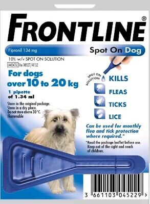 Frontline Spot On Medium Dog 10-20kg 1 Pipette Exp: 11/2020 AVM-GSL