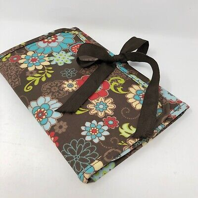 Thirty One fold n go organizer Floral Fanfare holds paper pen pads