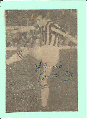 Football Autograph David Burnside 1950s 1960s Signed Newspaper Photograph F1557