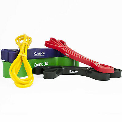 KOMODO Resistance Bands - Exercise Stretch Fitness Loop for Yoga Physio Workout