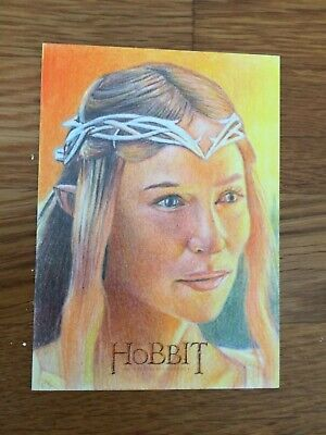 Cryptozoic The Hobbit Sketch Card AUJ  1/1 Galadriel by Richard Salvucci