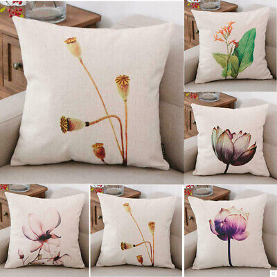 "18"" Retro Flower Cotton Linen Fashion Throw Pillow Case Cushion Cover Home Decor"
