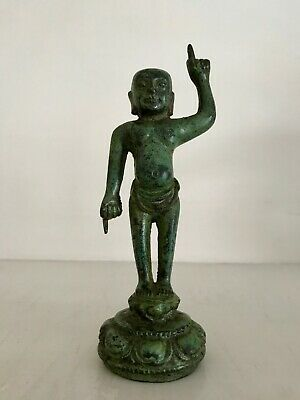 Rare Ming Chinese bronze figure The Birth of Buddha / Infant Buddha - Pre-1800s