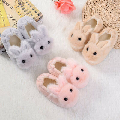Toddler Newborn Kids Baby Girls Boys Warm Shoes Cute Cartoon Soft-Soled Slippers