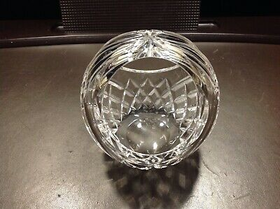 Crystal Waterford Rose Bowl Basket Signed Small Pre-owned