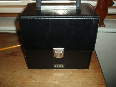 Boots  Vintage Black 7 Inch  Record Box Great Condition