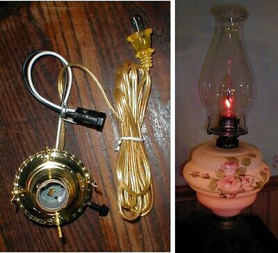 Electric #2 Burner, with night light for banquet,painted,hanging,or oil lamp
