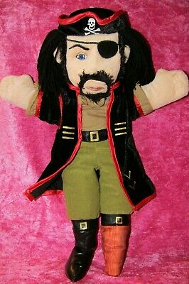 """The Puppet Company Time For Story ~ PIRATE ~ 18"""" Doll Hand Puppet Soft Plush Toy"""