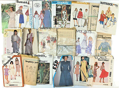 Vtg Sewing Patterns Lot 19 Simplicity Butterick McCalls Dress Retro 80s 90s