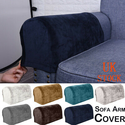 2 Universal Velet Chair Arm Protector Cover Sofa Couch Armchair Armrest Stretch