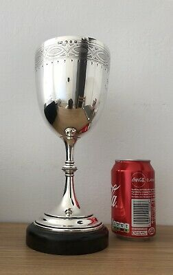 Solid Silver Large Cup , Goblet , Chalice , Elkington & Co Late Victorian 19th C