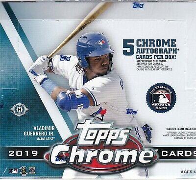 2019 Topps Chrome Jumbo Box Factory Sealed 5 Autos
