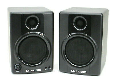 PAIR of M-Audio Studiophile AV40 Powered Reference Studio Monitor Speakers