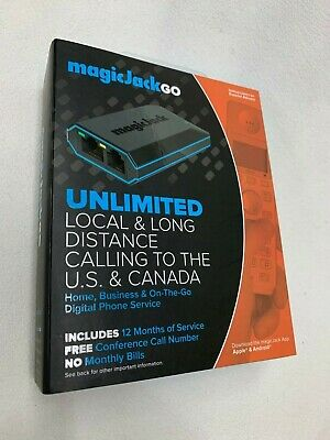 MagicJack Go VoIP (Latest Model) 12 Months FREE Service Brand *New *...