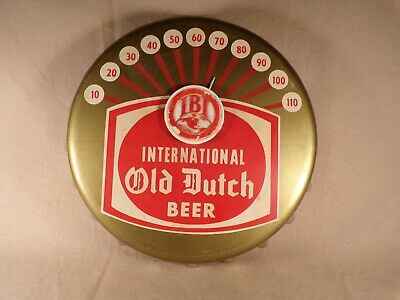 Vintage Antique Old Dutch Beer Sign Advertising Thermometer