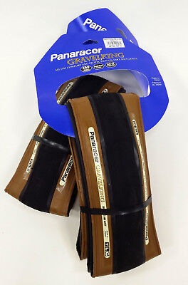 2-PACK Panaracer GravelKing Slick Tubeless Ready Tires 700 x 38, Tan/Brown, PAIR