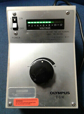 Olympus TGH Variable Output LED-indicated Microscope Lamp Power Supply 12VDC 50w