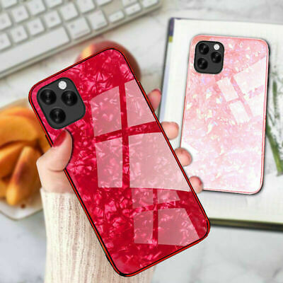 Case For iPhone 11 Pro Max XR XS Max 6 7 8 Plus Marble Tempered Glass Hard Cover