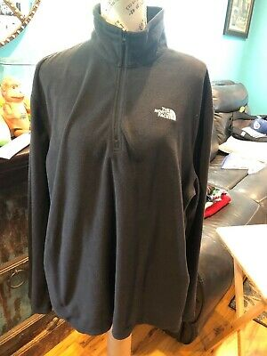 The North Face Fleece  Mens XLarge Black  Quarter Zip Sweater