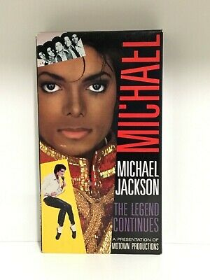 Preowned Vestron Musicvideo Micheal Jackson The Legend Continues Motown VHS