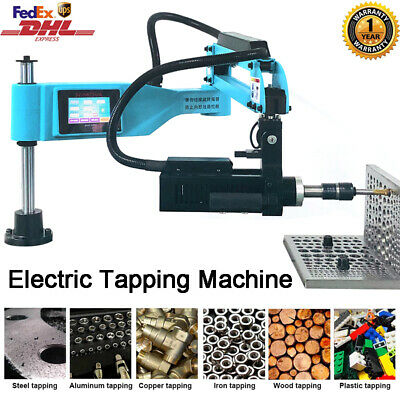 Universal 360° Electric Tapping Machine Flexible Arm M3-M16 Touch Screen 220V