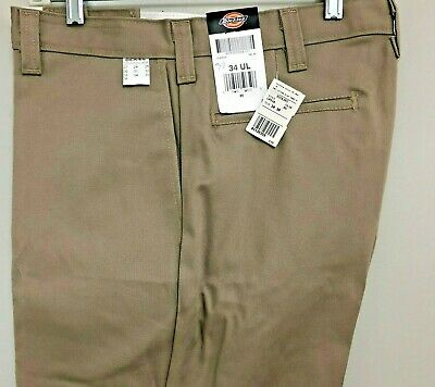 Cotton  Flat Front  Relaxed Fit  Charcoal  Pant   SIZE 58 Dickies LP310CH