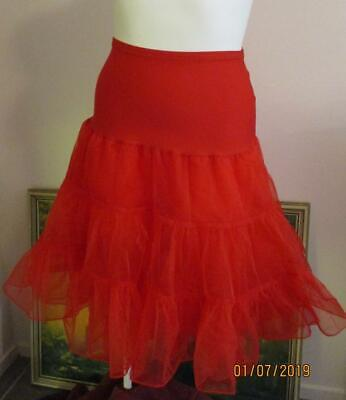 SZ 16 Rockabilly Red Ruffled FRILLY PETTICOAT -Costume -Dress up-Cute