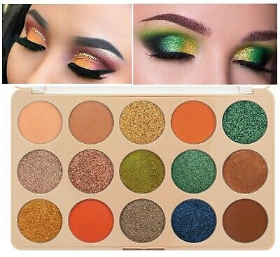 15Color Eyeshadow Palette Ultra Pigmented Mineral Pressed Glitter Shimmer Makeup
