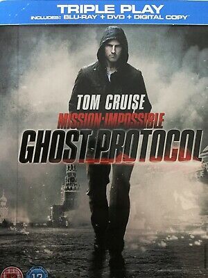 MISSION IMPOSSIBLE Ghost Protocol BLURAY + Bonus 4K Disc Steelbook *Read Notes*