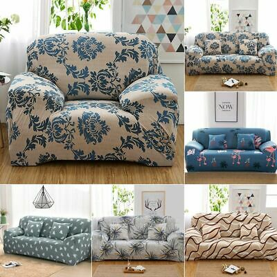 1-4 Seater Sofa Cover Universal Couch Cover Elastic Floral Slipcovers Furniture