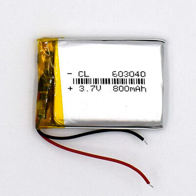10pcs 3.7V 800mAh 603040 LiIon Li-Polymer Rechargeable Battery LiPo Cell for GPS